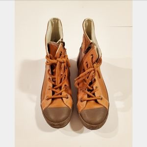 Converse All Star High Top Leather Lace Up Shoes